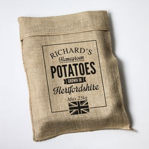 Personalised Hessian Vegetable Sack - gifts for grandparents