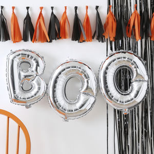 Silver Boo Balloon Bunting Pumpkin Party - winter sale