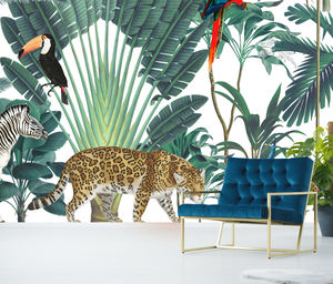 Royal Jungle Self Adhesive Mural - new in prints & art