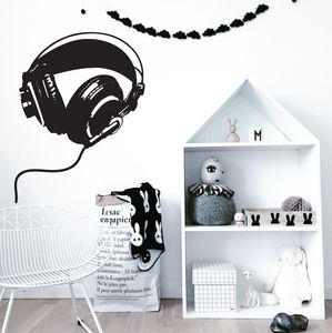 Headphones Wall Stickers - children's room