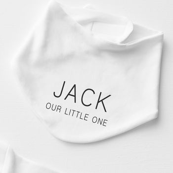 Mini Message Personalised Bib