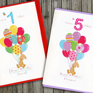 First Birthday Personalised Card For Boys And Girls