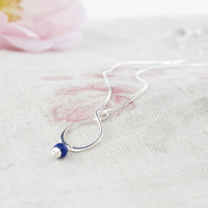 Aida Lapis Lazuli And Sterling Silver Pendant - wedding fashion