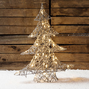 Rattan Christamas Tree Light - lighting
