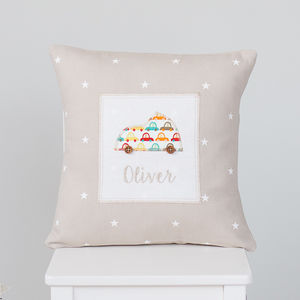 Personalised Children's Little Car Cushion