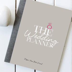 Personalised Wedding Planner Notebook And Journal - engagement gifts