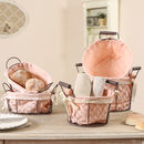 Farmhouse Blush Chickenwire Baskets