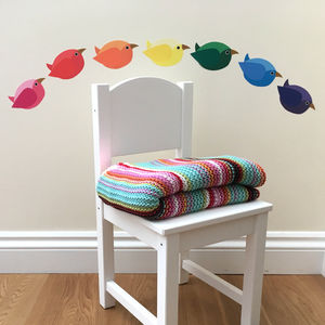 Rainbow Birds Wall Stickers - decorative accessories