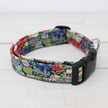 Bluebell Liberty Fabric Dog Collar