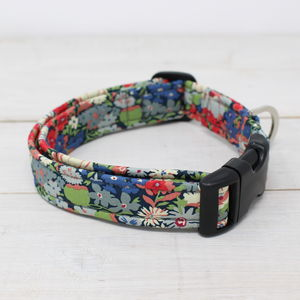 Dolly Liberty Fabric Dog Collar