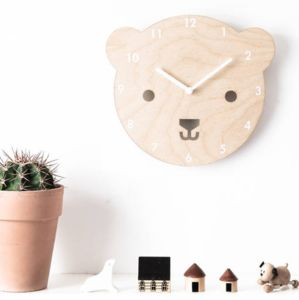 'Buster The Bear' Wooden Childrens Clock - brand new partners