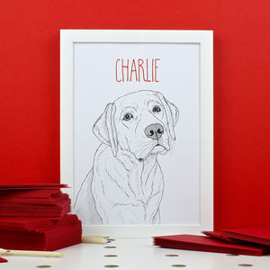 Personalised Labrador Portrait Print - pet portraits