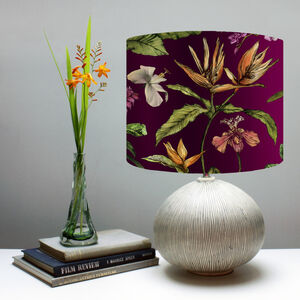 Hothouse Berry Botanical Print Lampshade