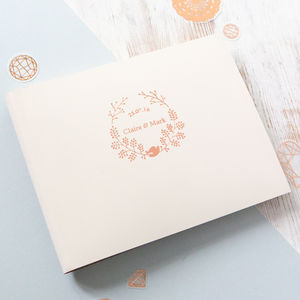Wedding Guest Book With A Boho Wedding Logo Designed - rustic wedding