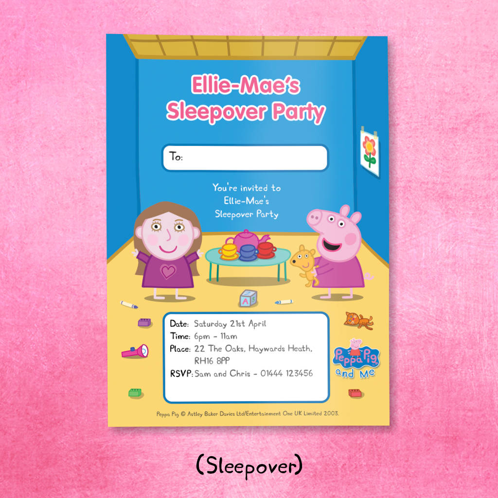personalised peppa pig: party invitations by penwizard ...
