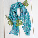 Botanical Meadows Long Silk Scarf