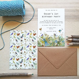Children's Woodland Birthday Invitations