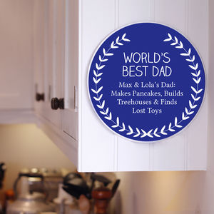 Personalised Best Dad Plaque - gifts for grandparents