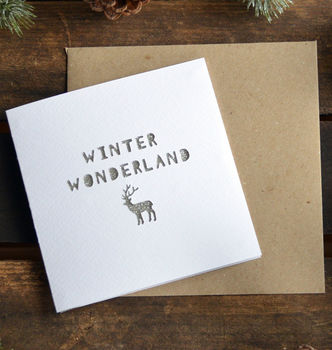 Paper Cut 'Winter Wonderland' Christmas Winter Card