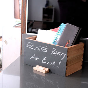 Chalk Board Tidy Box