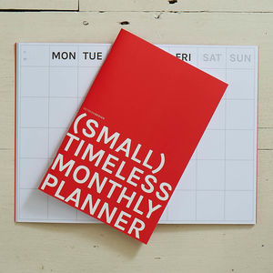 Small Timeless Monthly Planner - planning & organising