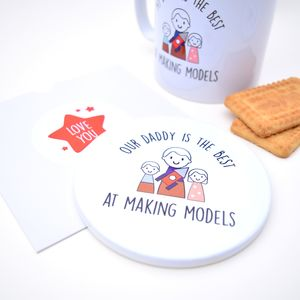 Personalised Father's Day Mug And Coaster Set