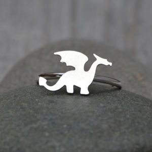 Dragon Ring Handmade In Sterling Silver - rings
