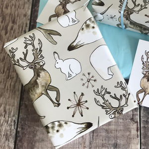 Arctic Animals Christmas Wrapping Paper - christmas wrapping paper