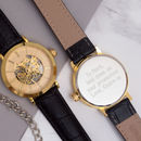 Gents Gold Personalised Wrist Watch