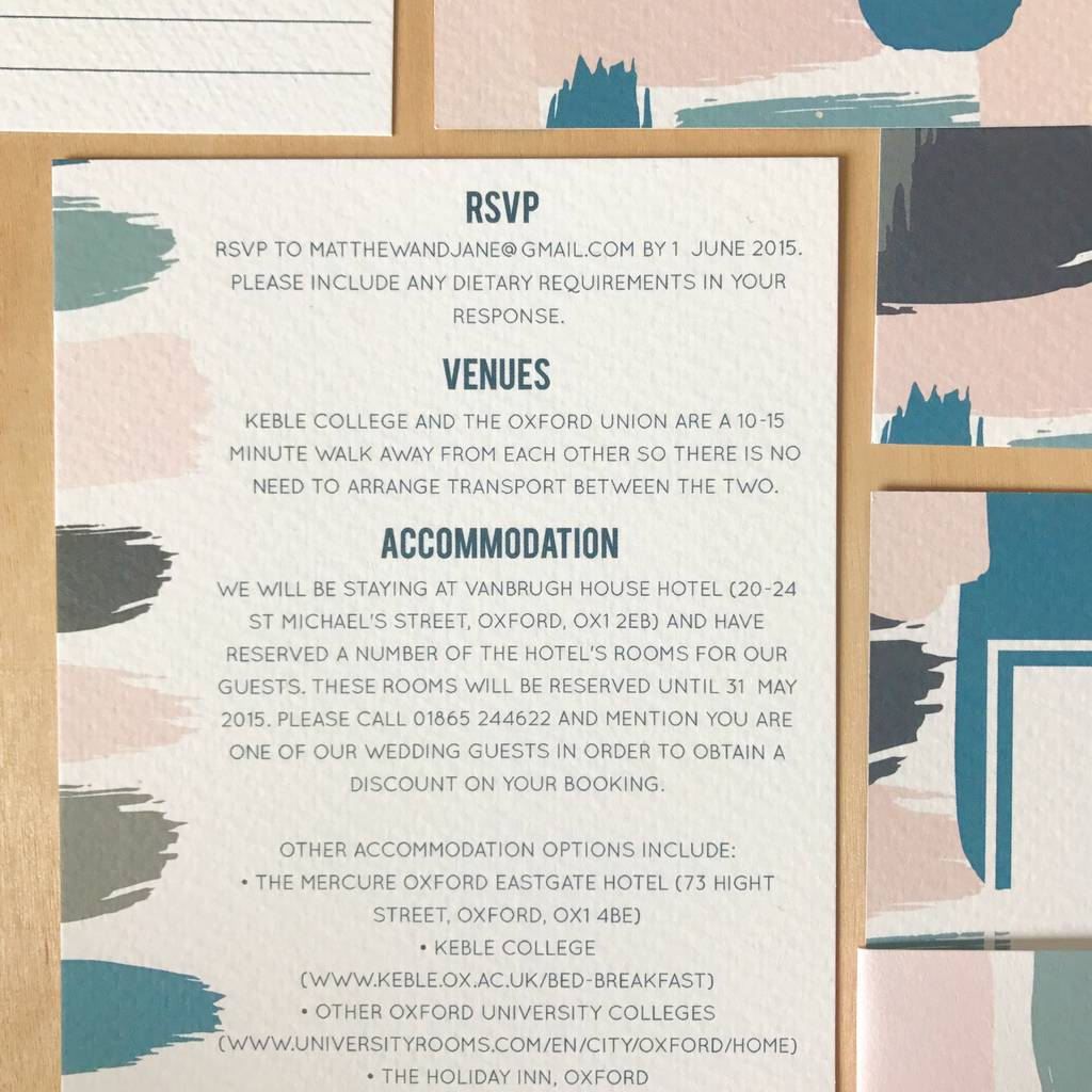 brush stroke wedding invitations by sincerely may ...