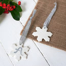 Small Hanging Porcelain Snowflake Decoration