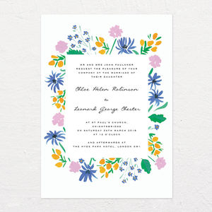 Coastal Flowers Wedding Invitation - what's new