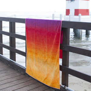 Bright Ombre Beach Towels In Oranges Or Blues - bed, bath & table linen