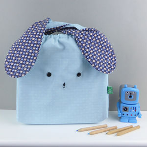 Bunny Rabbit Light Geometric Fabric Bag