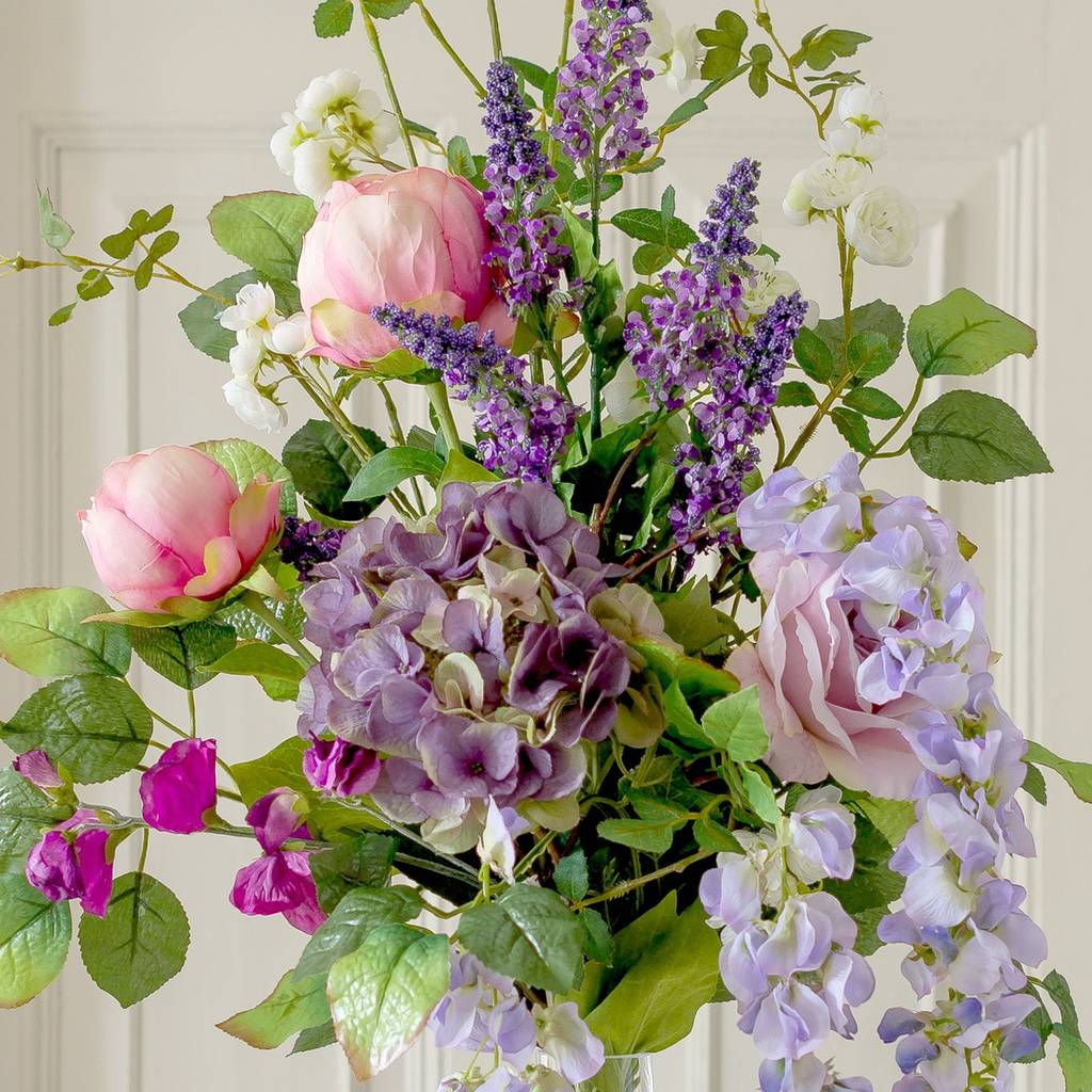 artificial luxury cottage garden flower bouquet by the flower studio ...