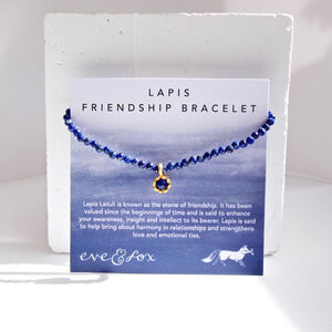 Lapis Beaded Friendship Bracelet