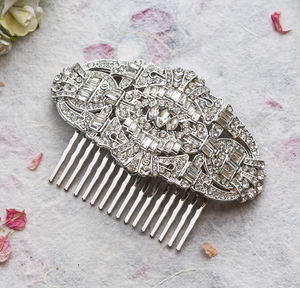 Aubrey Crystal Deco Hair Comb - bridal hairpieces
