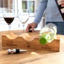 Personalised His Hers Ours Bamboo Wine Holder