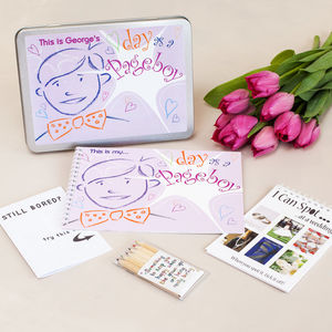 Personalised Pageboy Wedding Activity Pack - wedding day activities