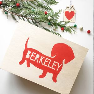 Personalised Dog Christmas Box