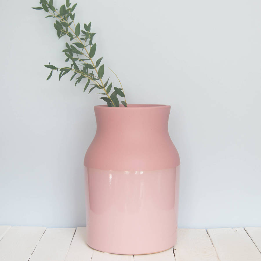 Large Dipped Peach Pink Vase By Iamia Notonthehighstreet Com
