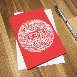Arsenal Football Club Greetings Card