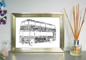 Double Decker Bus Personalised Print