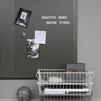 Khaki Magnetic Grid Noticeboard