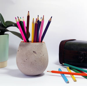 Concrete Pen Holder - kitchen accessories