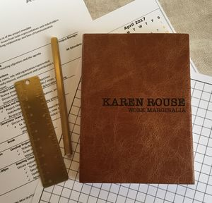 Double Sided Personalised Notebook In Luxury Leather