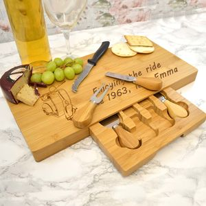 Personalised Cheeseboard With Scooter Design