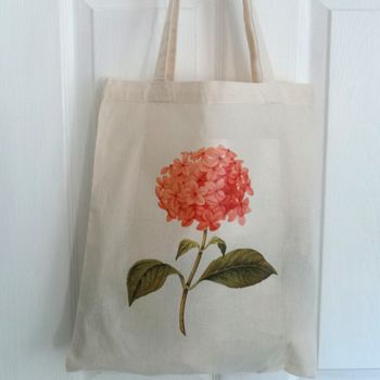 Hand Printed Botanical Print Shopper