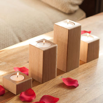 Oak Tea Light Holders