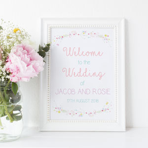 Personalised A3 Welcome To The Wedding Print
